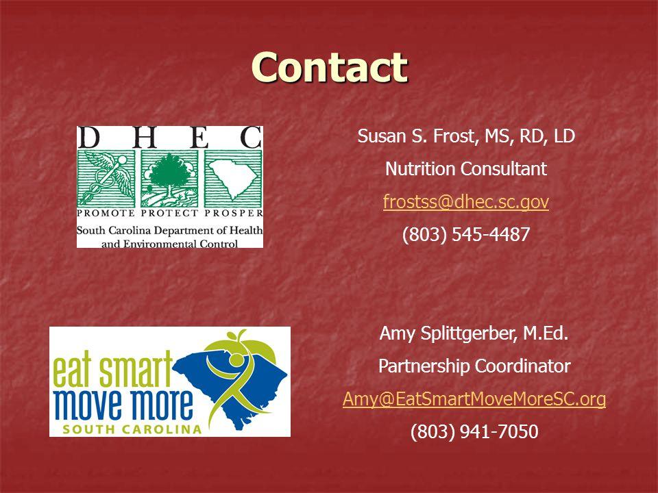 Contact Amy Splittgerber, M.Ed.