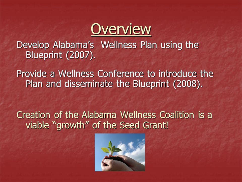 Overview Develop Alabama's Wellness Plan using the Blueprint (2007).