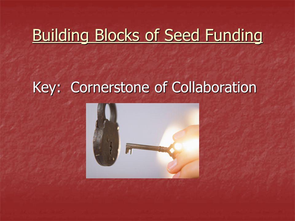 Building Blocks of Seed Funding Key: Cornerstone of Collaboration