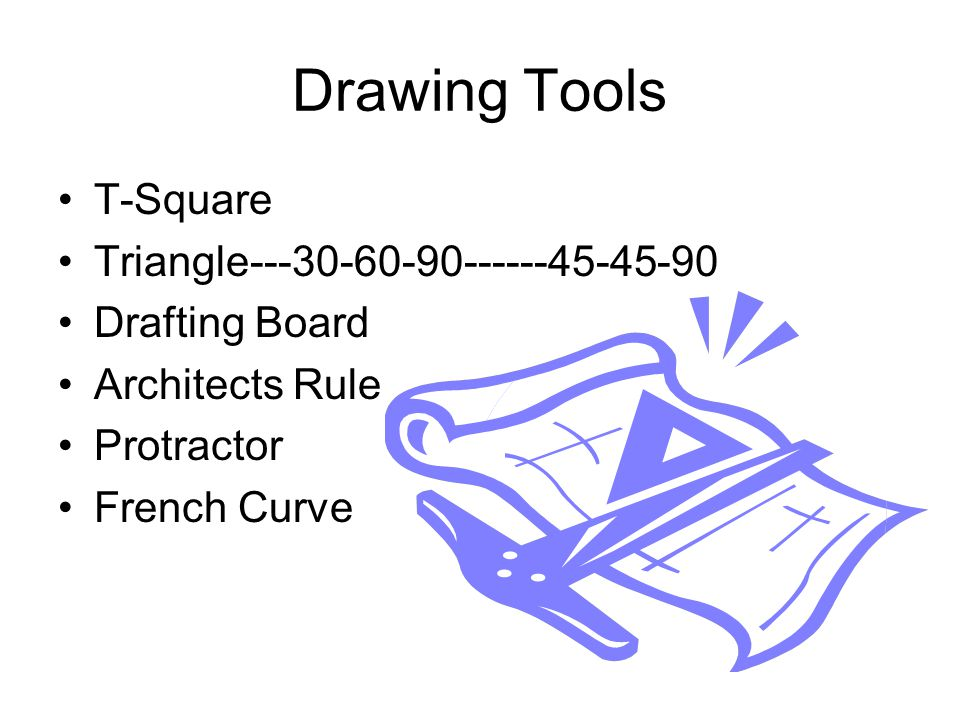 Drawing Tools T-Square Triangle---30-60-90------45-45-90 Drafting Board Architects Rule Protractor French Curve