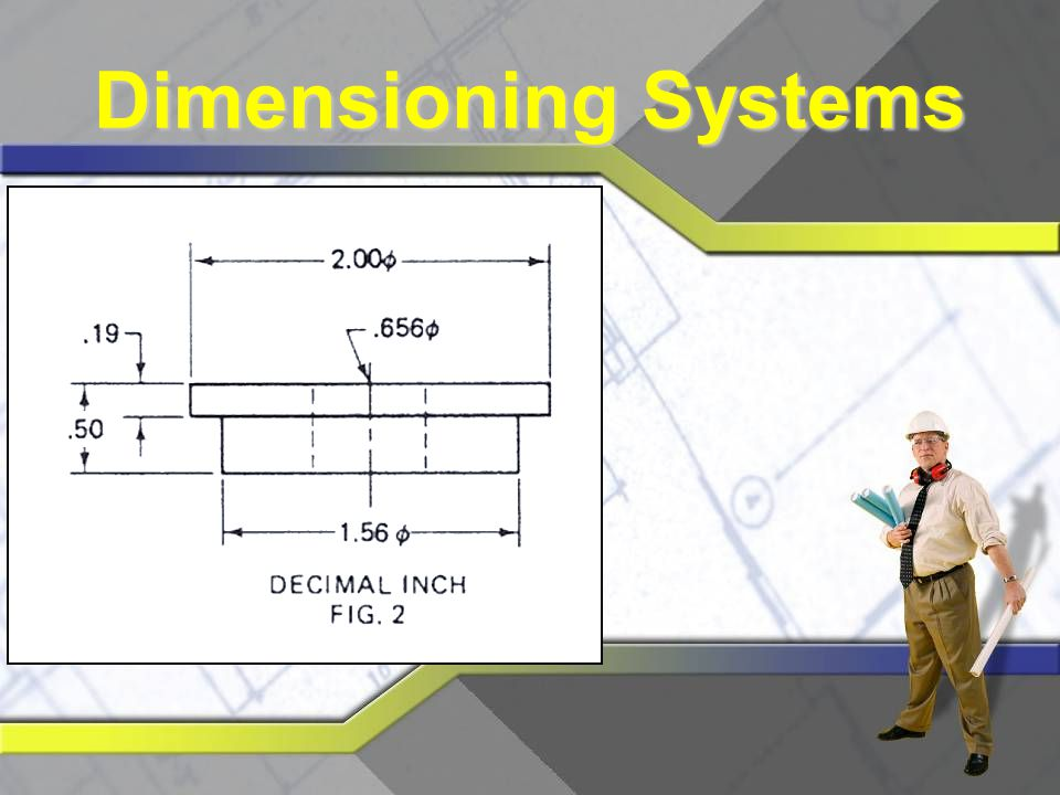 Decimal Dimensioning Drawing may be dimensioned using two- or three-place decimals Amount of tolerance is determined by number of decimal places