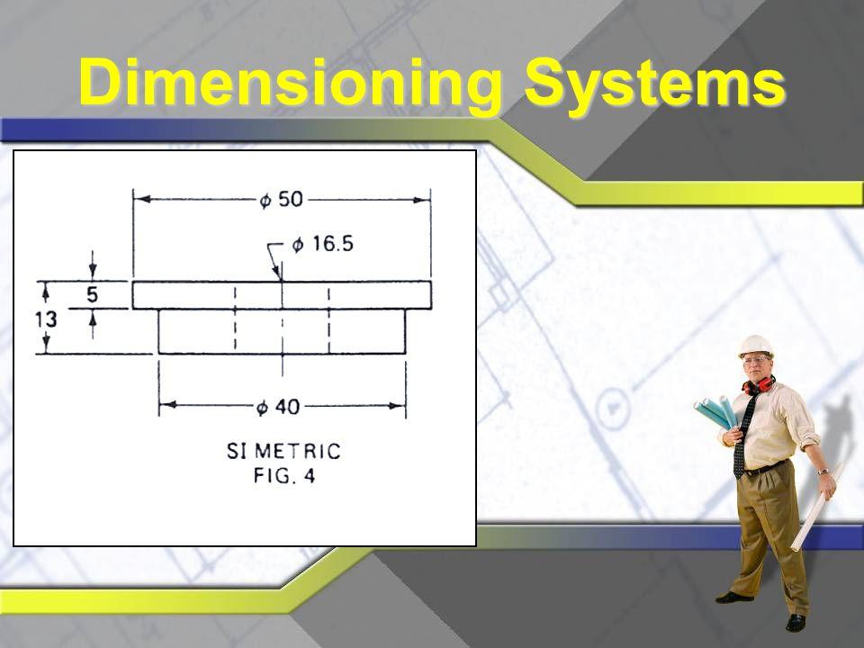 Engineering Drawings  Standardized drawings  A size is 8 ½ x 11 inches  B size is 11 x 17 inches  C size is 17 x 22 inches  D size is 22 x 34 inches  E size is 34 x 44 inches