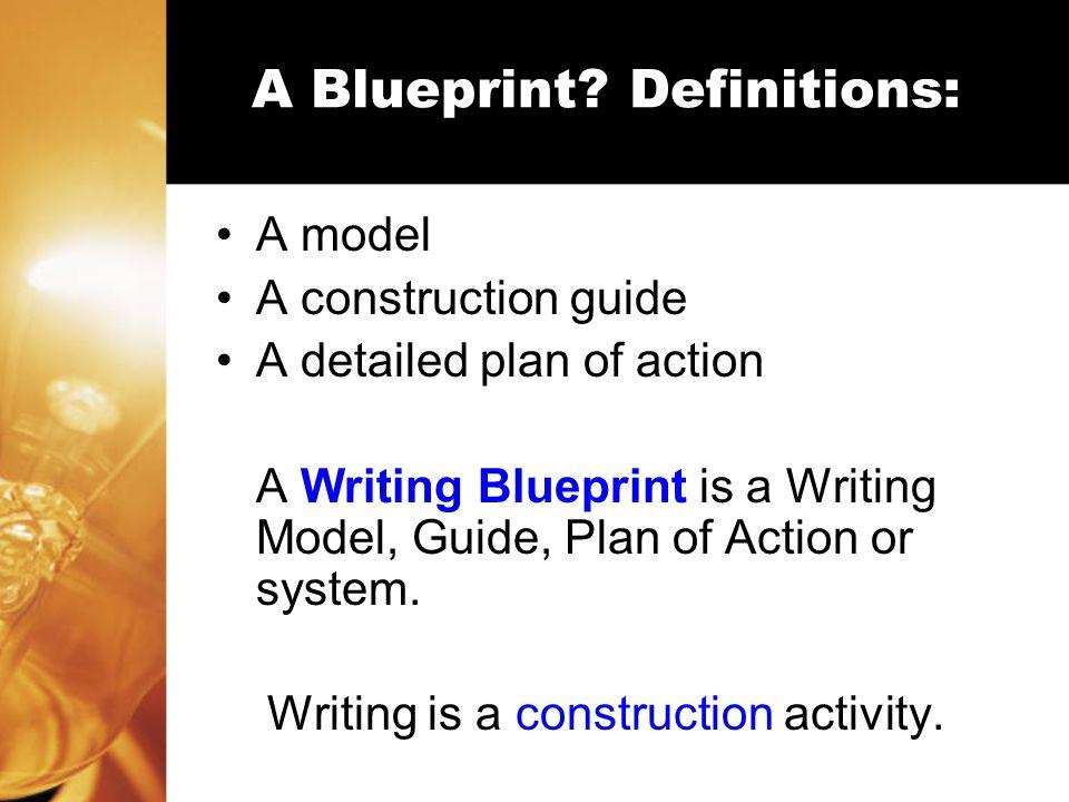 Why Use a Blueprint.