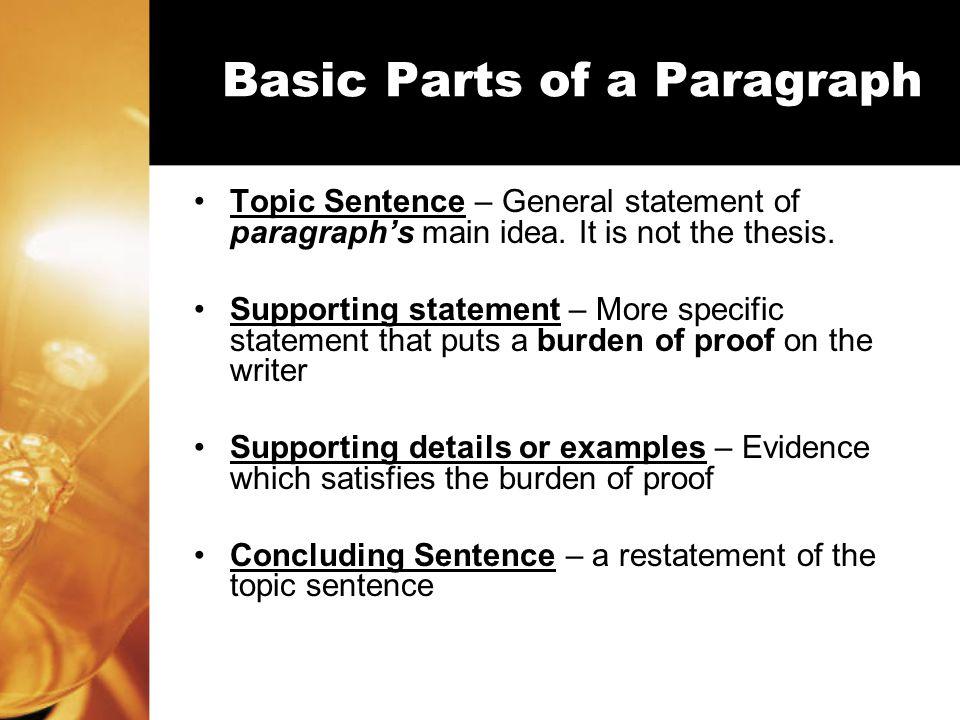 An Essay Blueprint Three Essay Parts I.