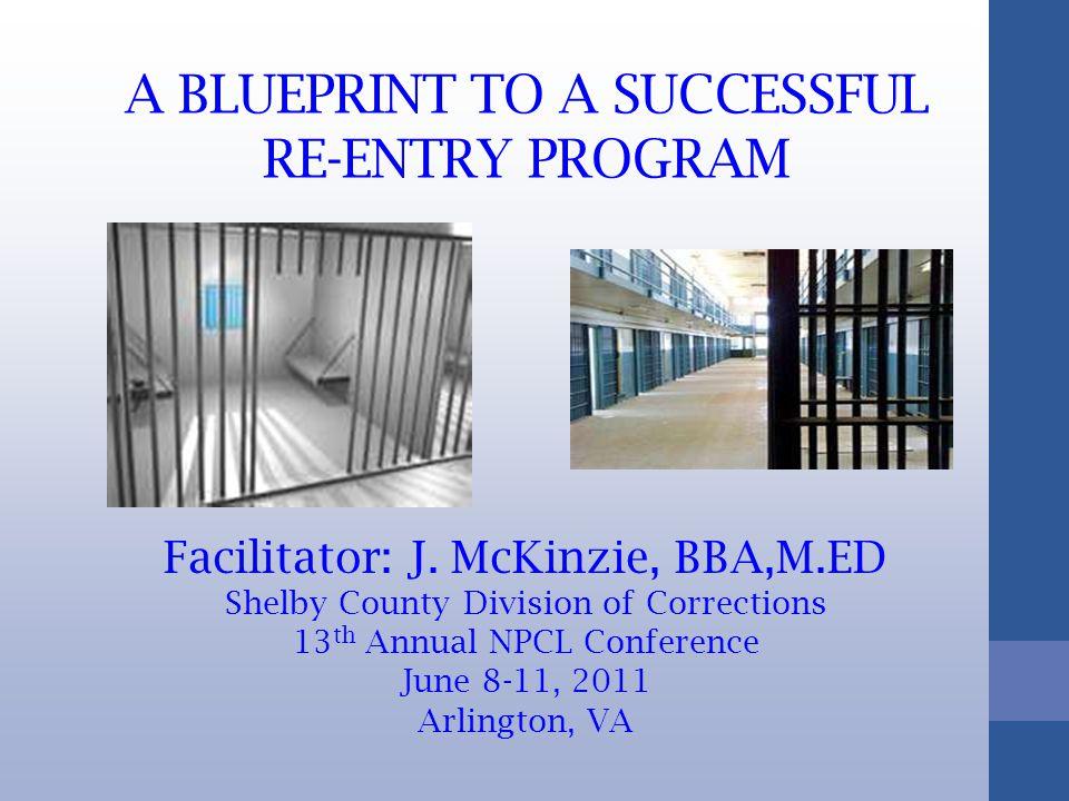 A BLUEPRINT TO A SUCCESSFUL RE-ENTRY PROGRAM Facilitator: J.