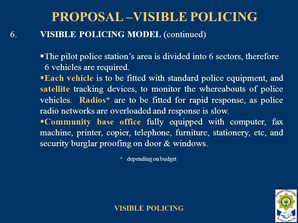 VISIBLE POLICING