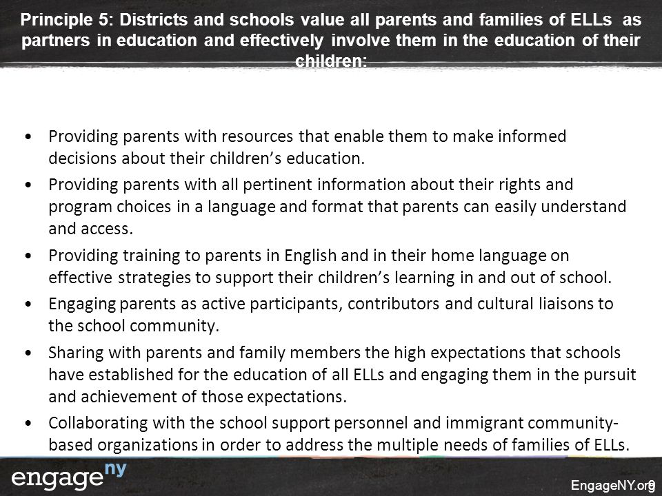 Providing parents with resources that enable them to make informed decisions about their children's education. Providing parents with all pertinent in