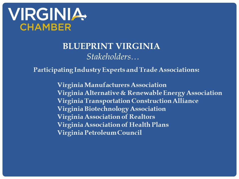Participating Industry Experts and Trade Associations: Virginia Manufacturers Association Virginia Alternative & Renewable Energy Association Virginia
