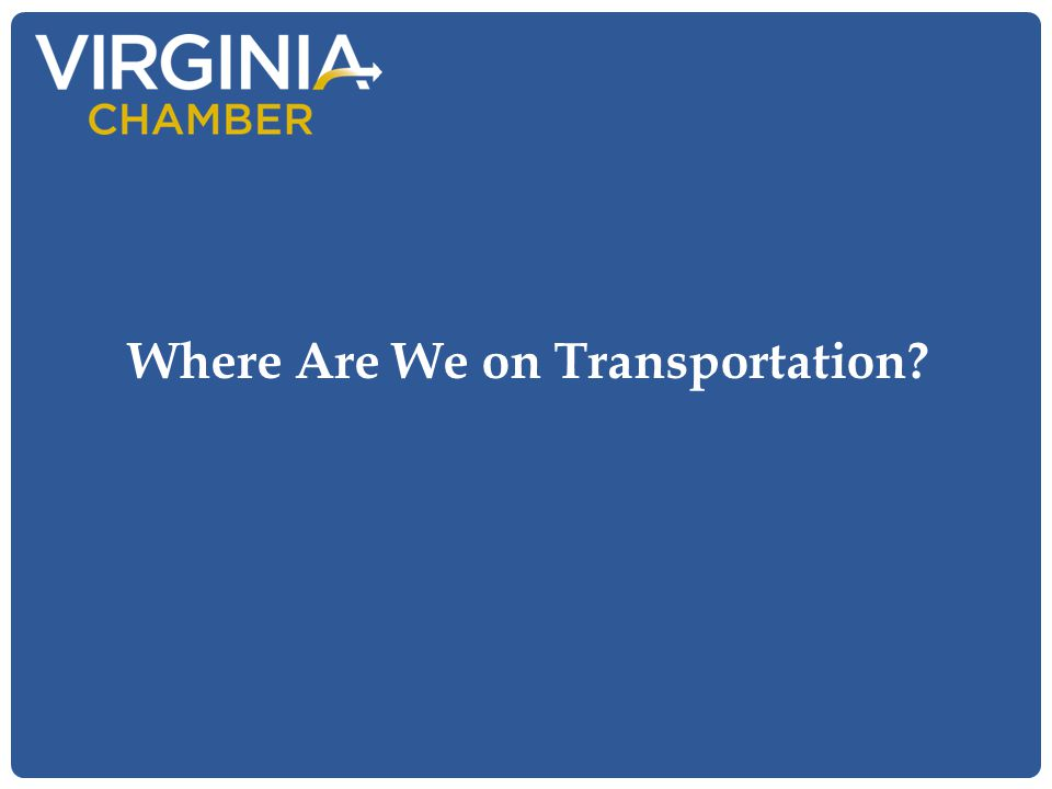 Where Are We on Transportation