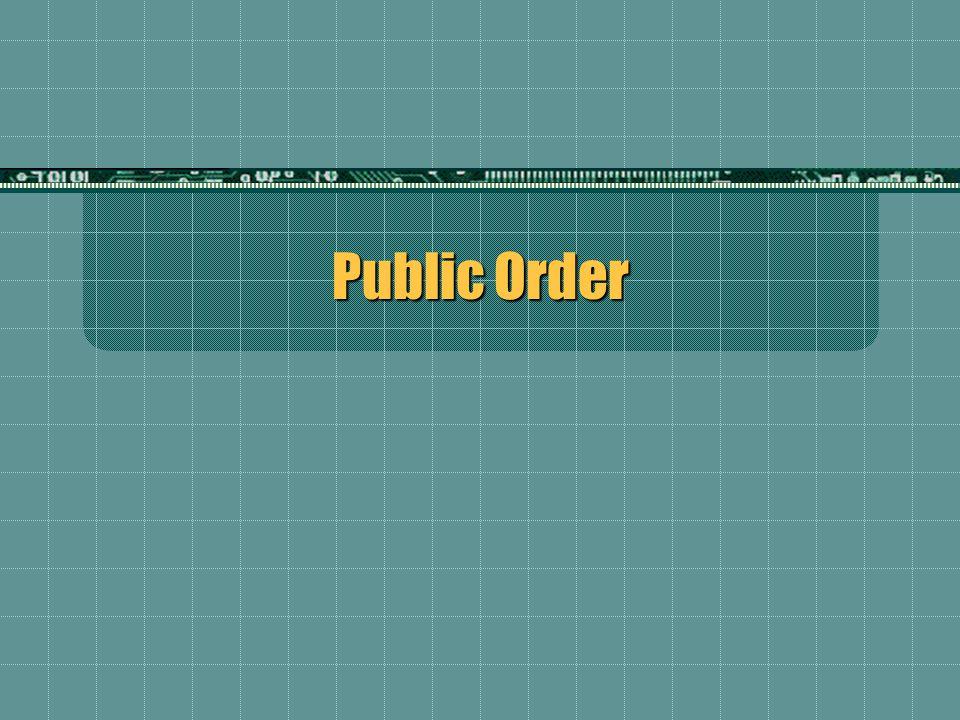 Public Order