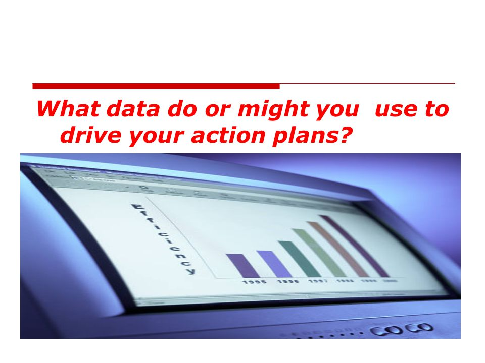 What data do or might you use to drive your action plans?