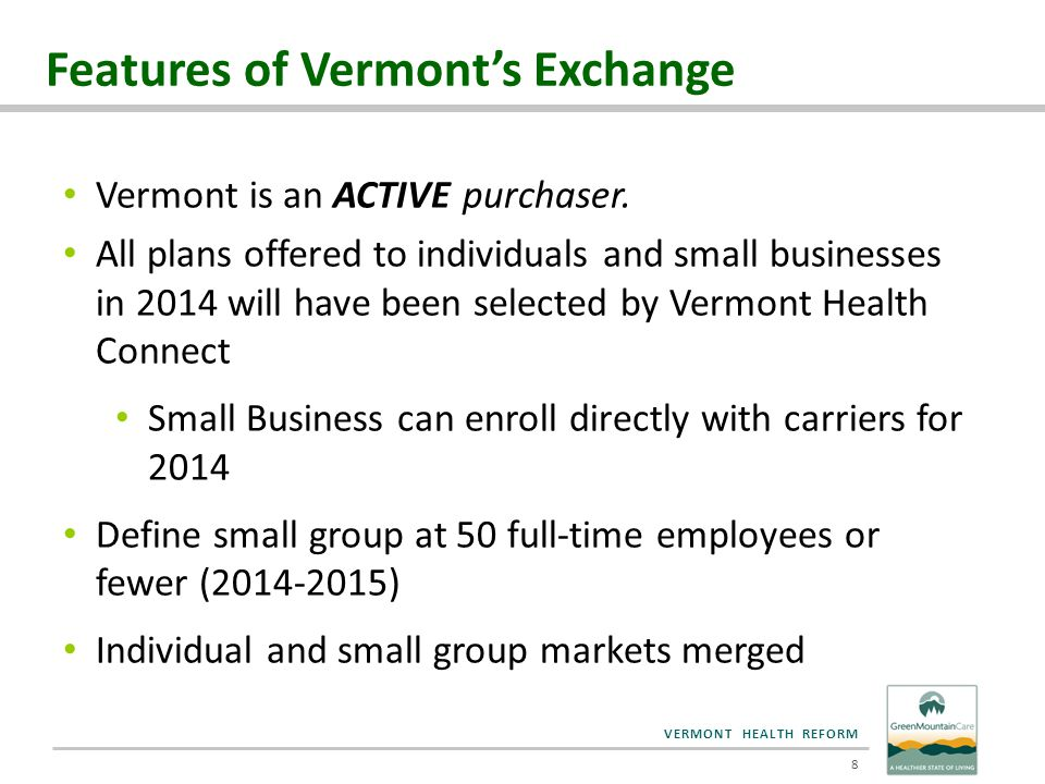 VERMONT HEALTH REFORM Vermont Cost Sharing Reductions 5/1/2015 19
