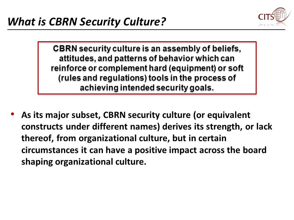 What is CBRN Security Culture.