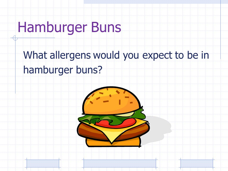 Hamburger Buns What allergens would you expect to be in hamburger buns