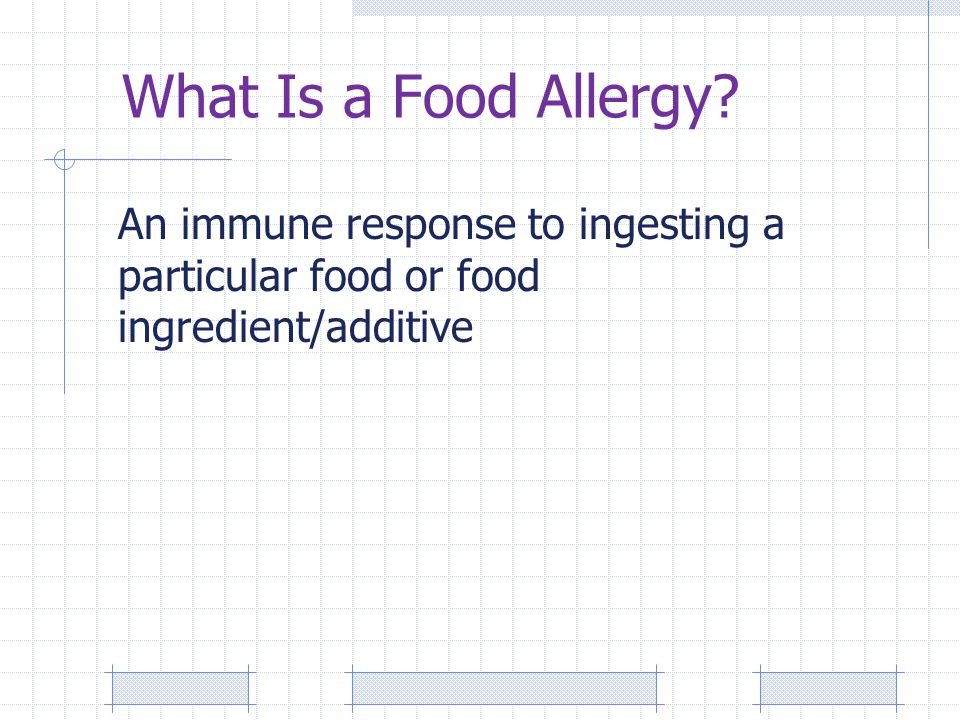 What Is a Food Allergy.