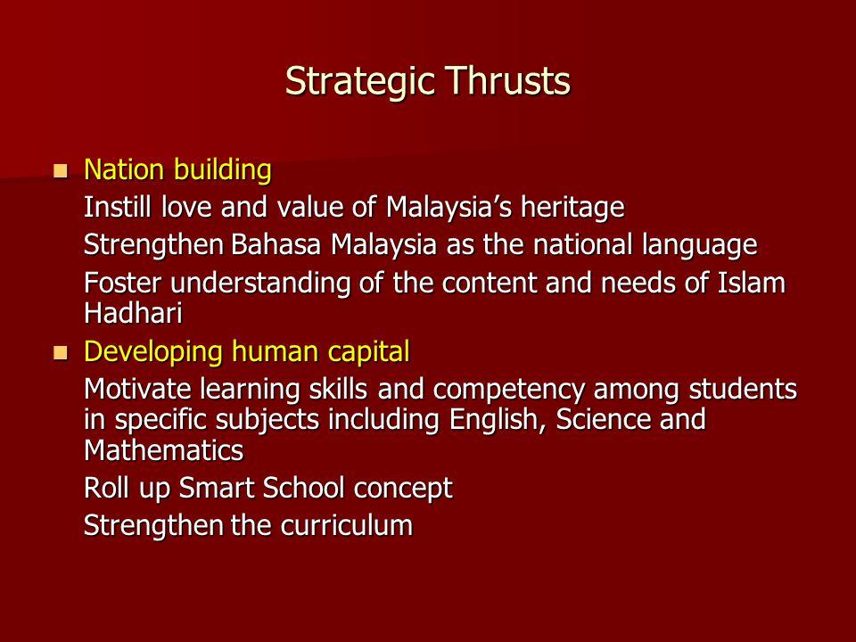 National education blueprint 2006 2010 national key results 2 strategic thrusts nation building malvernweather Gallery