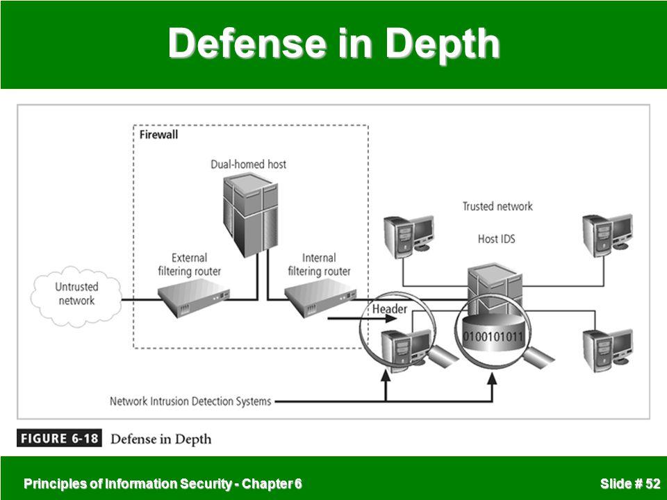 Principles of Information Security - Chapter 6 Slide # 52 Defense in Depth