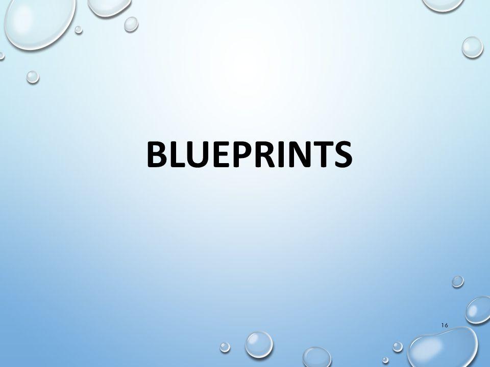 16 BLUEPRINTS
