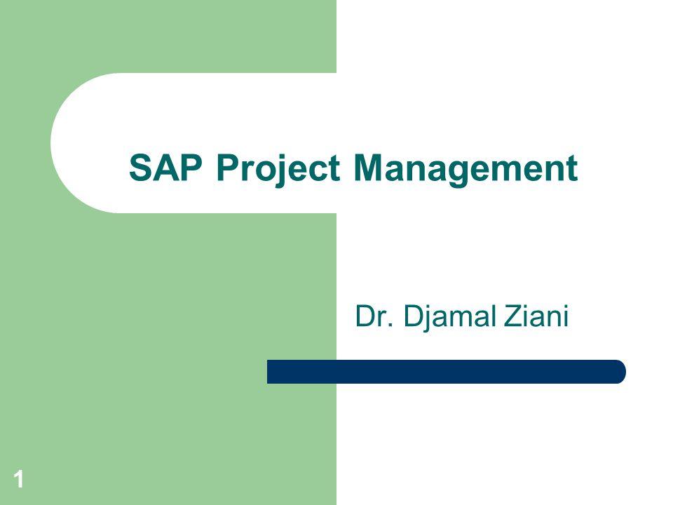 1 Dr. Djamal Ziani SAP Project Management