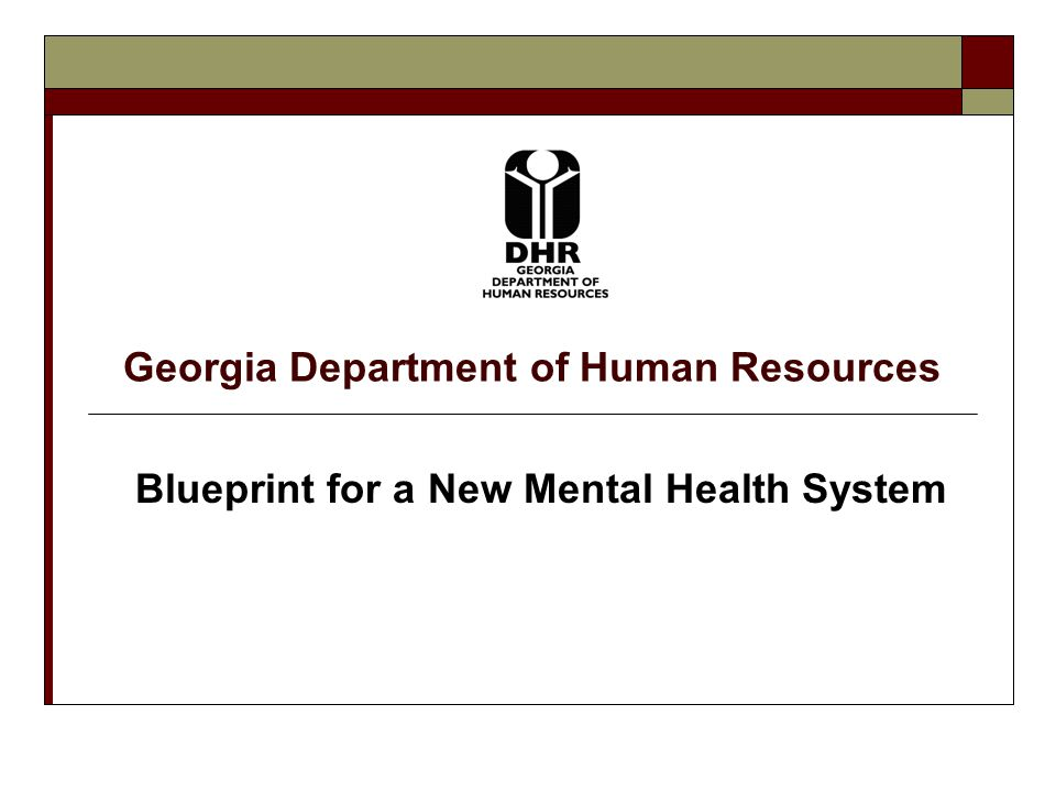 Georgia Department of Human Resources Slide 2 Why Change Our Mental Health System.