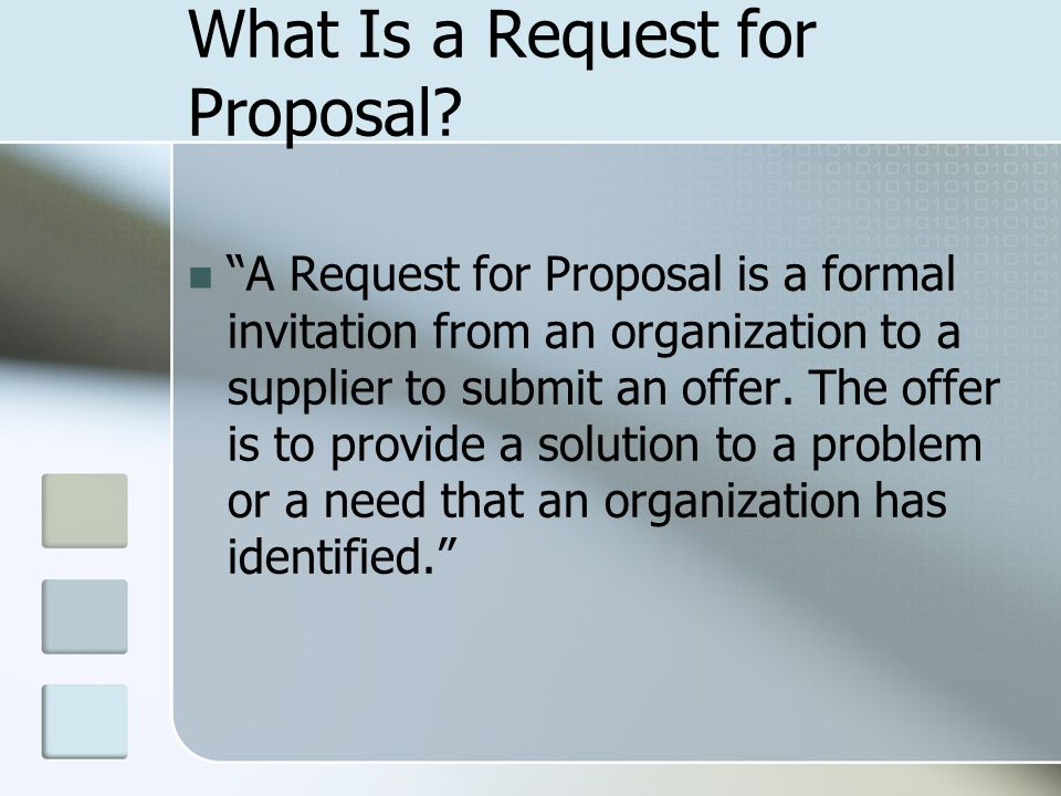What Is a Request for Proposal.