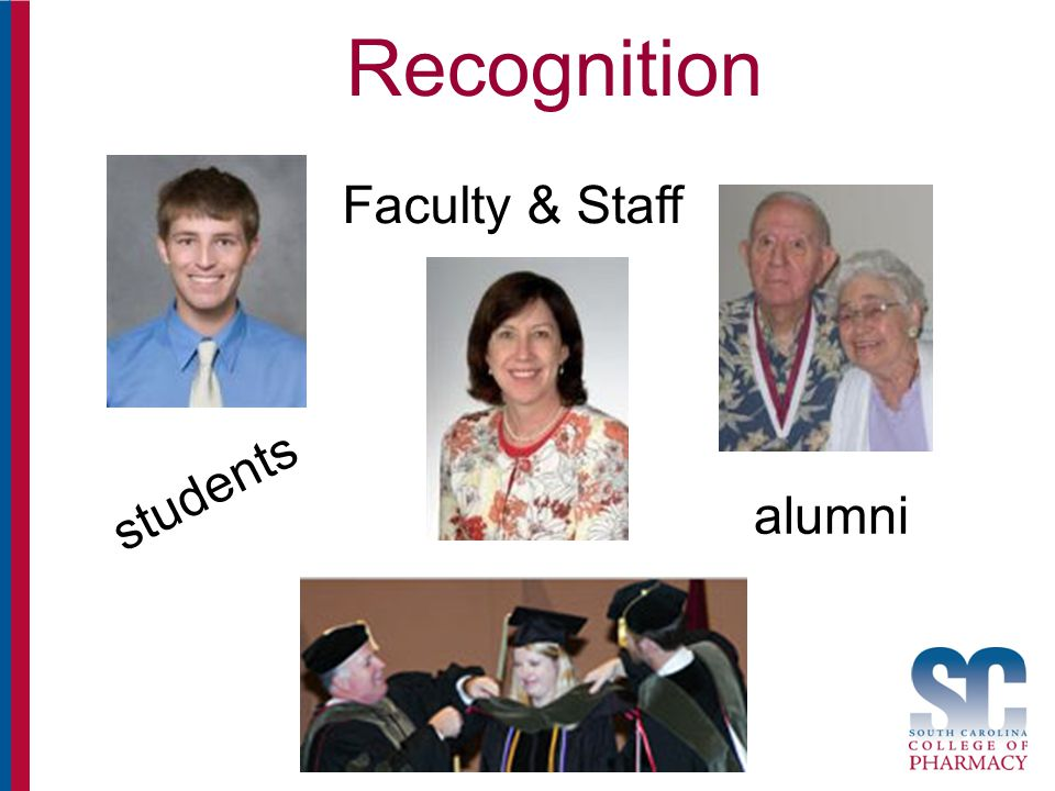 Recognition students Faculty & Staff alumni