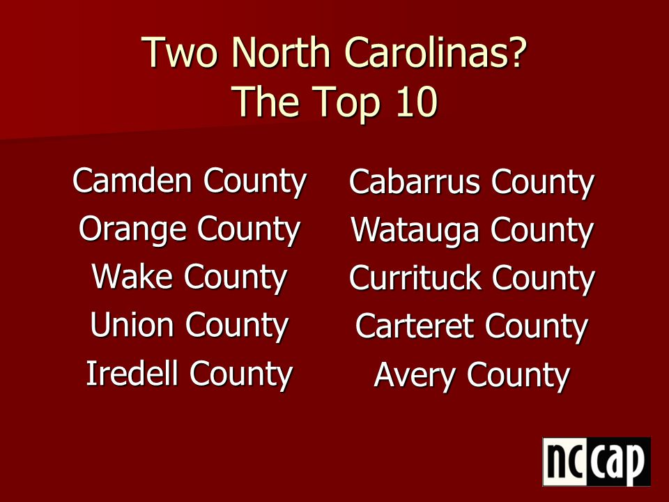 One Caveat is Necessary… Countywide averages mask need.