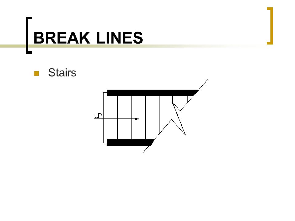 BREAK LINES Stairs