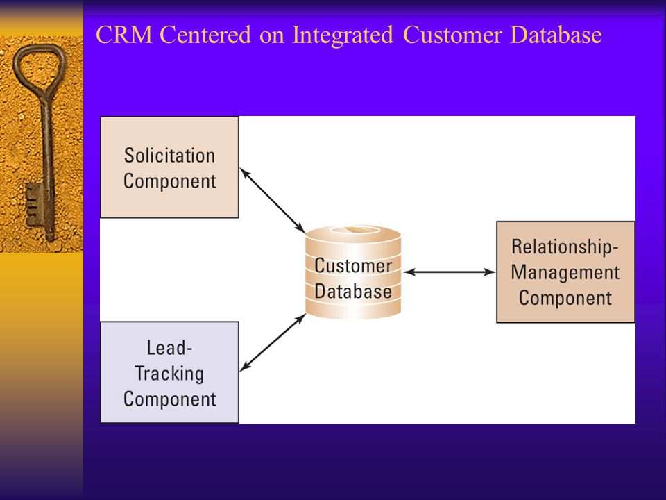 CRM Centered on Integrated Customer Database