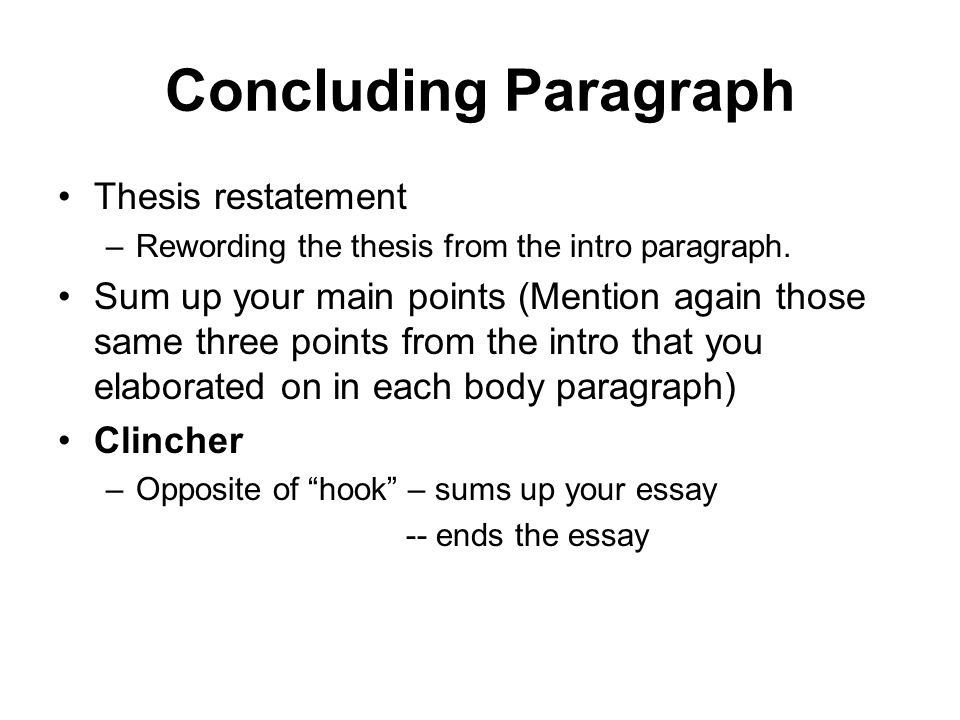 writing a conclusion for a persuasive essay