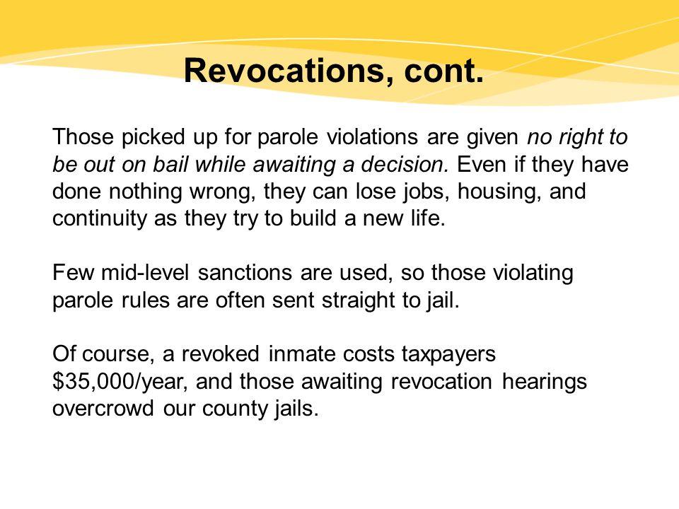 Revocations, cont.