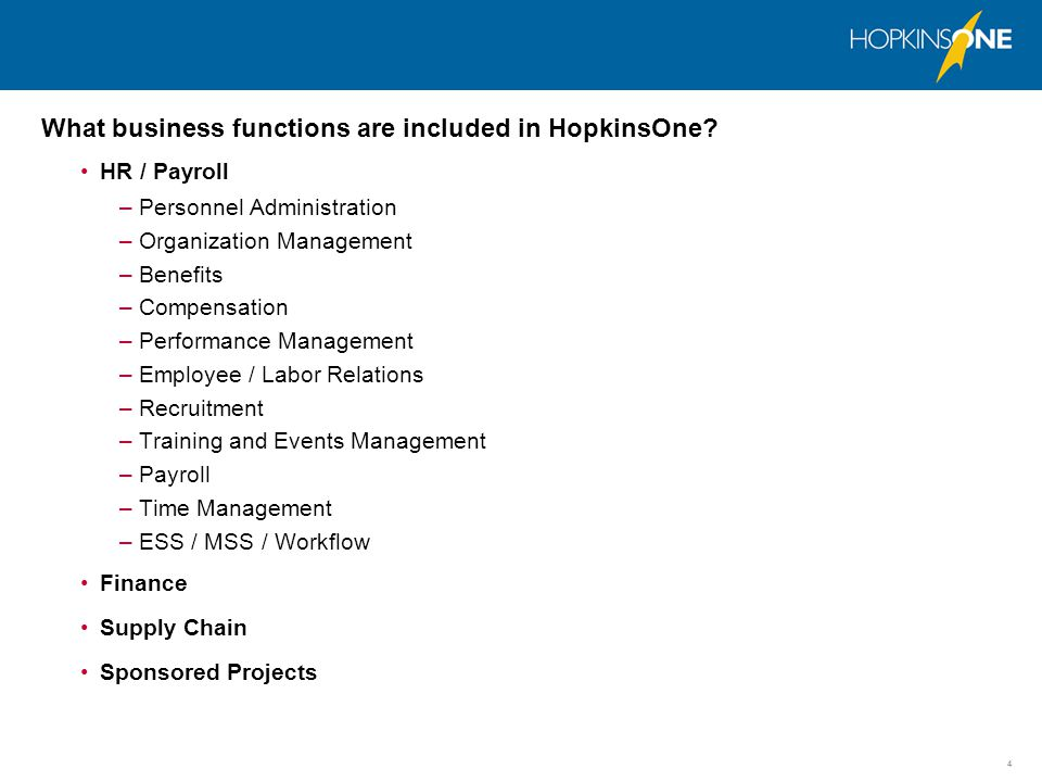 5 Which software solution did Johns Hopkins purchase for HopkinsOne.