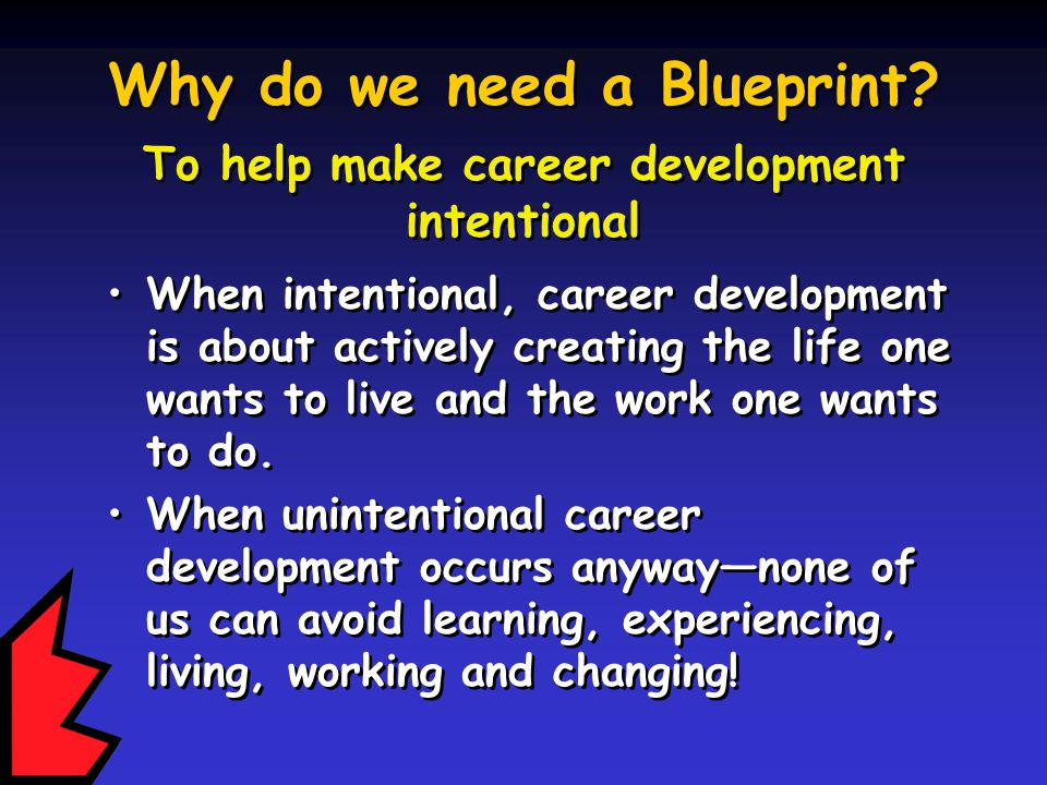 Why do we need a Blueprint.