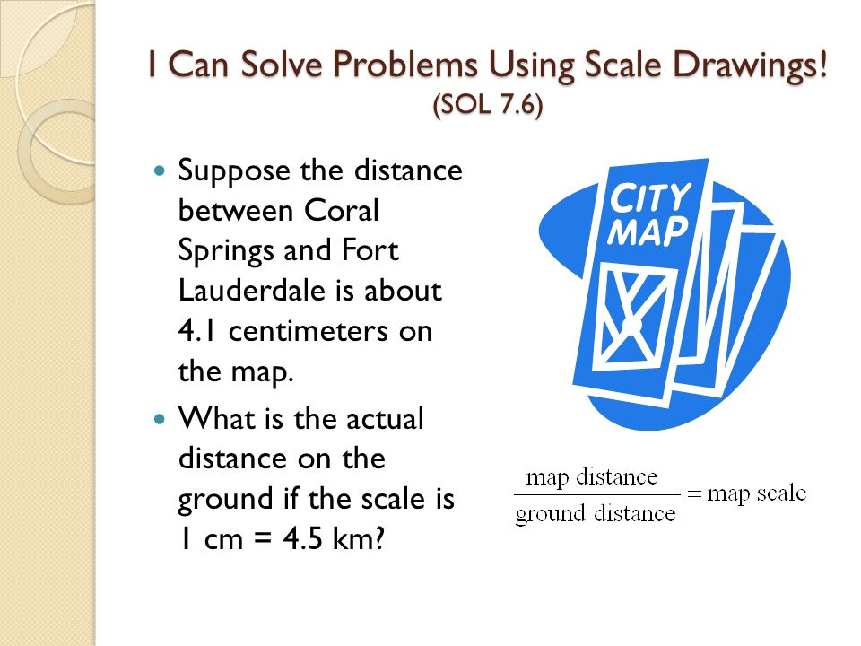 I Can Solve Problems Using Scale Drawings.