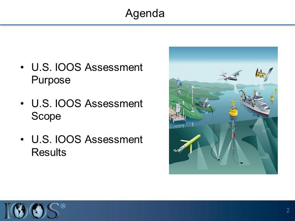 U.S. IOOS Assessment Purpose U.S. IOOS Assessment Scope U.S. IOOS Assessment Results Agenda 2