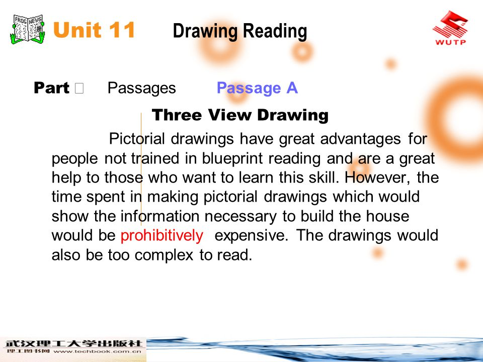 Unit 11 Drawing Reading Part Ⅱ Passages Passage B There are several ways to study a set of blueprints.
