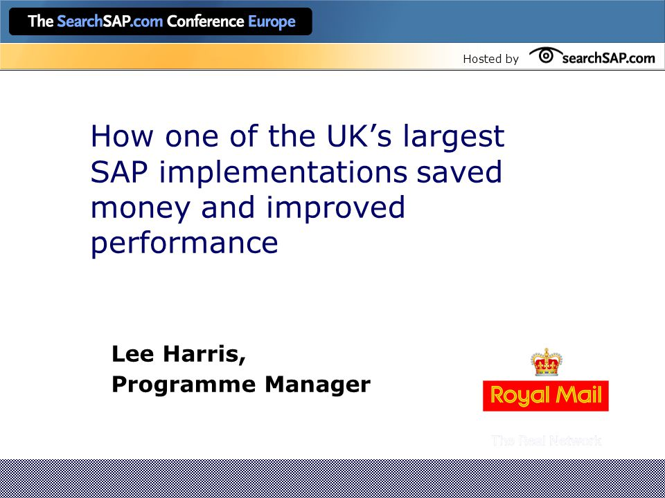 Hosted by Programme Benefits Targeted Benefits – Non Financial Performance reporting, Product/Customer profitability, regulatory and statutory accounts are all produced from a common source.