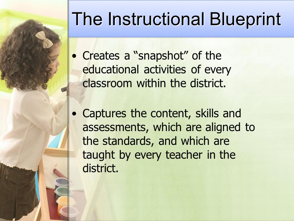Creates a snapshot of the educational activities of every classroom within the district.