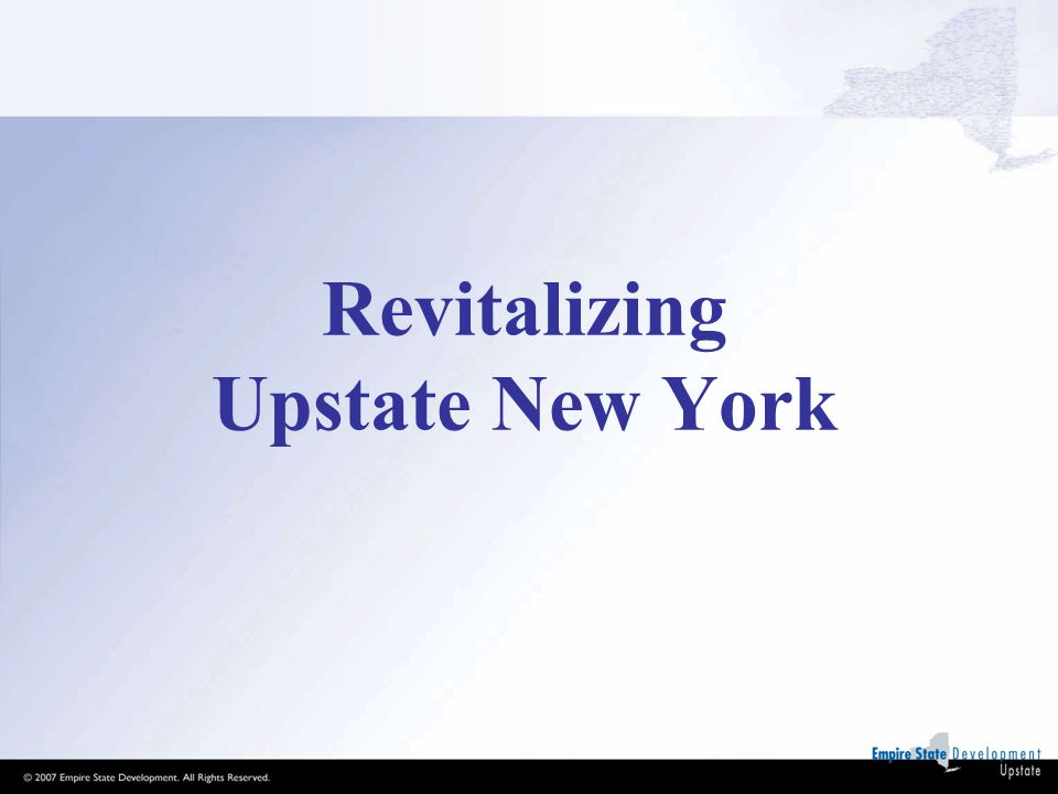Revitalizing Upstate New York