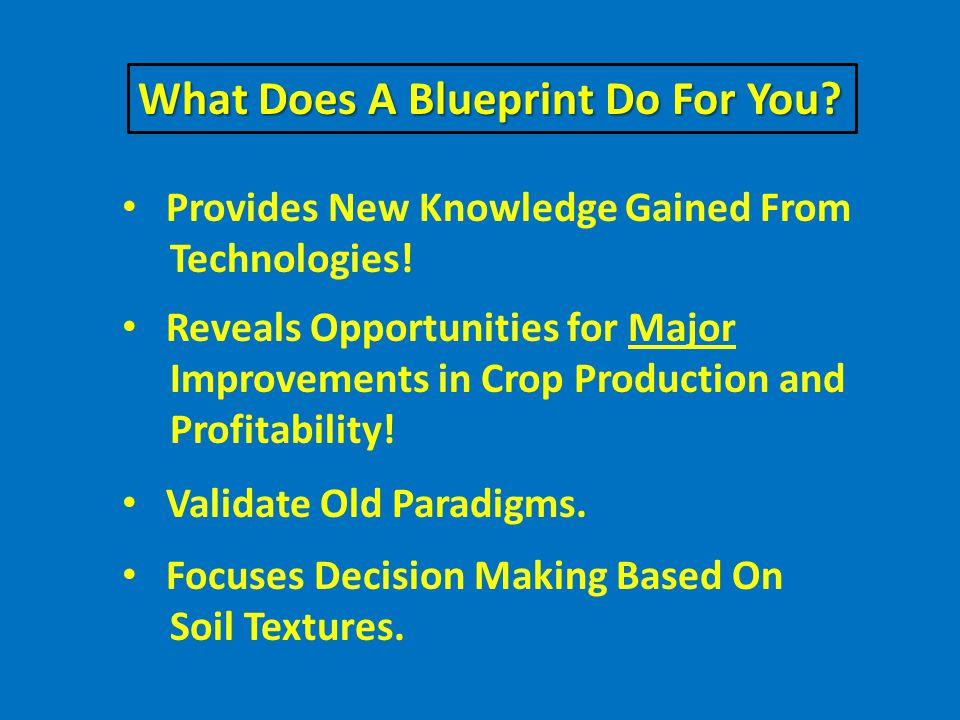What Does A Blueprint Do For You. Provides New Knowledge Gained From Technologies.