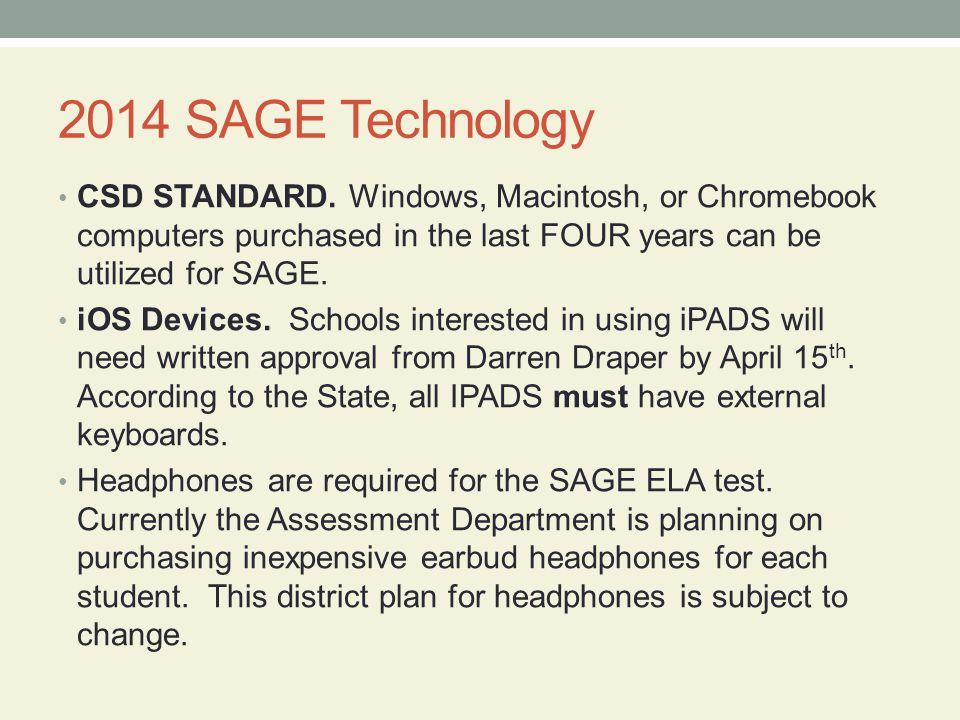 2014 SAGE Technology CSD STANDARD.