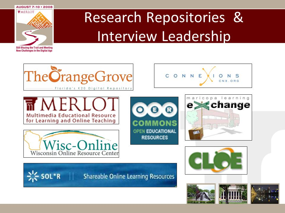 Research Repositories & Interview Leadership
