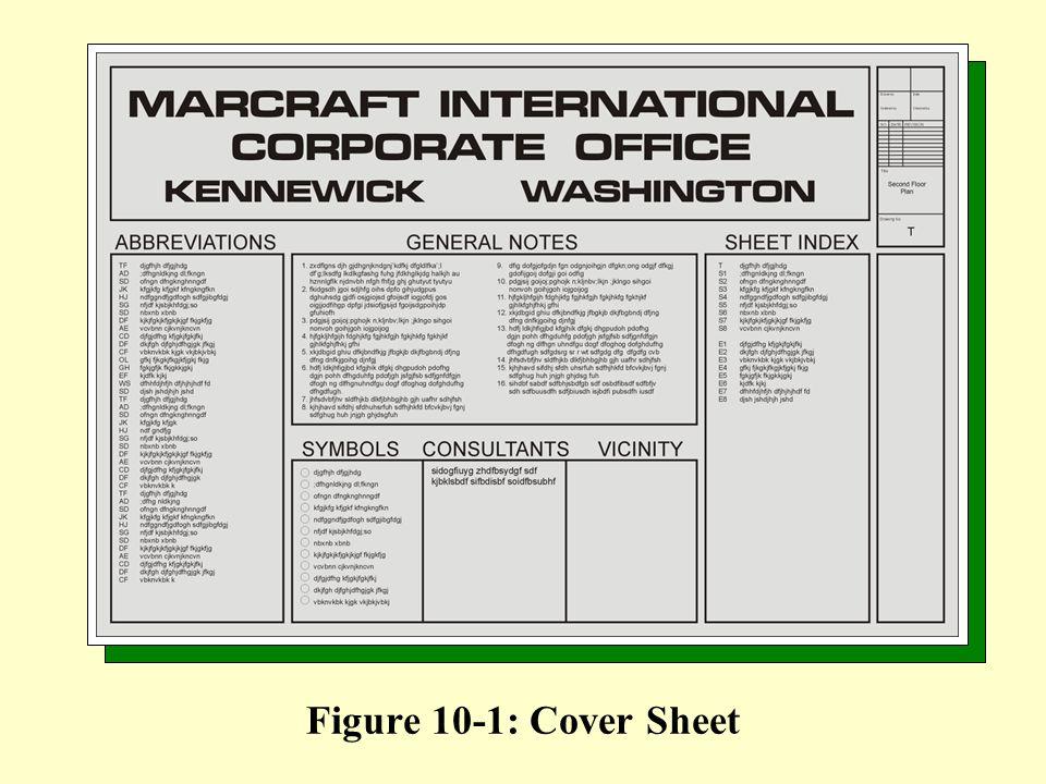 Figure 10-1: Cover Sheet