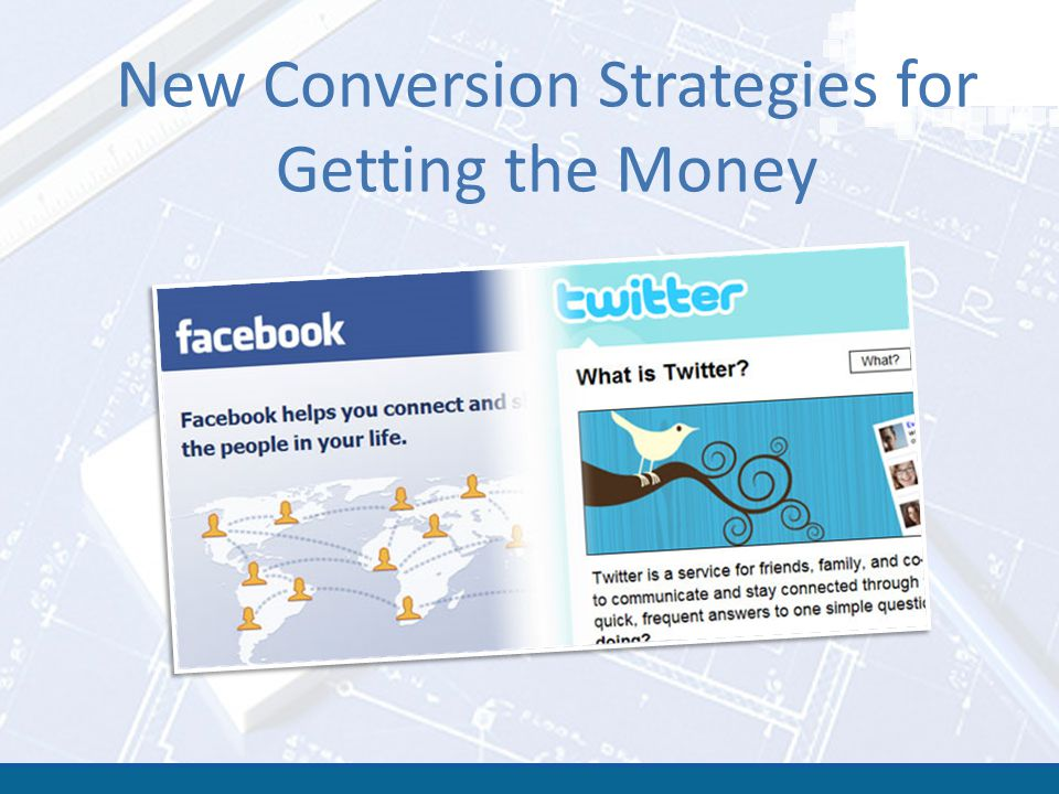 New Conversion Strategies for Getting the Money
