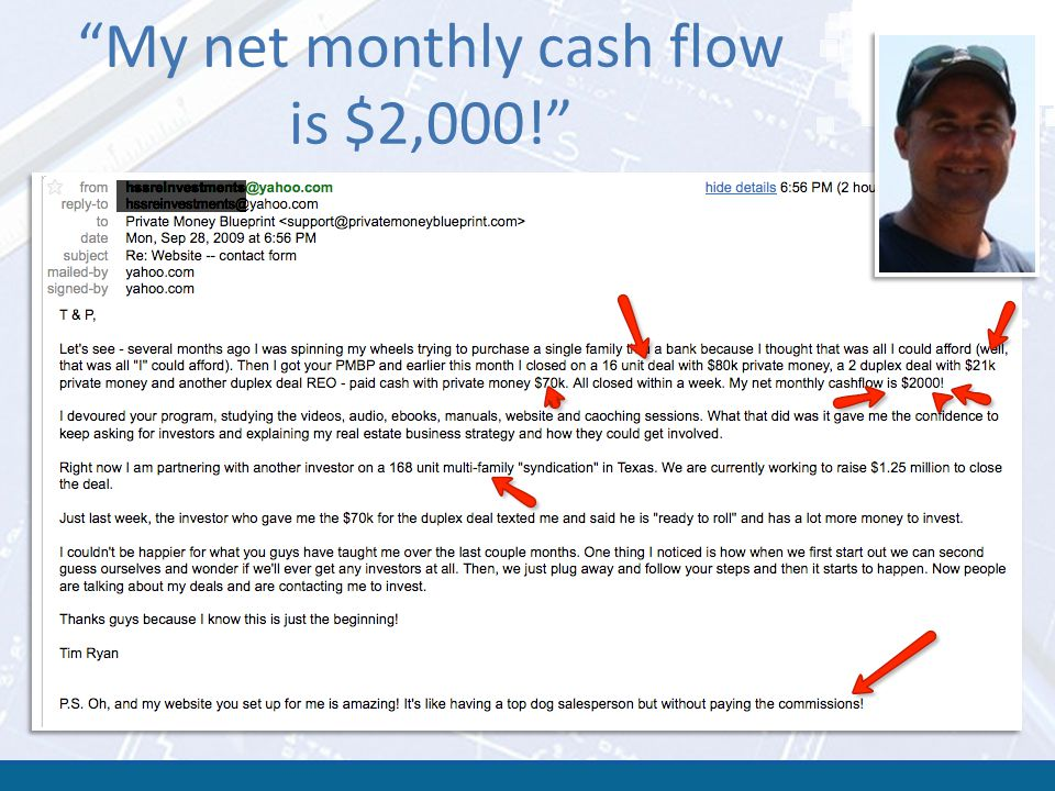 My net monthly cash flow is $2,000!
