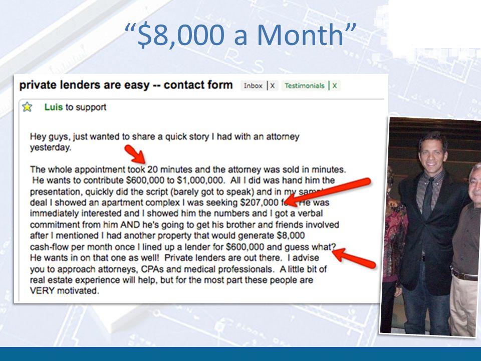 $8,000 a Month