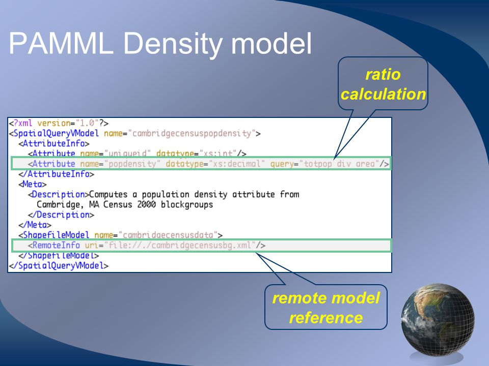 PAMML Density model ratio calculation remote model reference