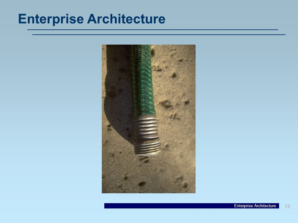 13 Enterprise Architecture
