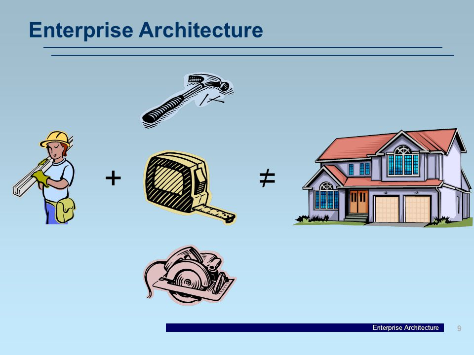 Enterprise Architecture 9 += /