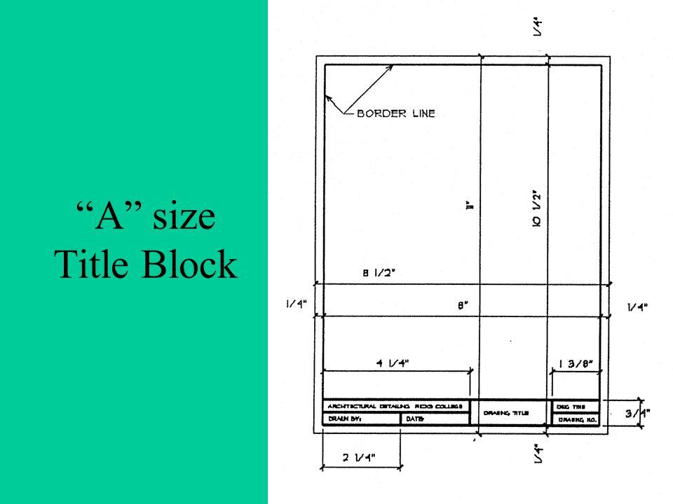 A size Title Block